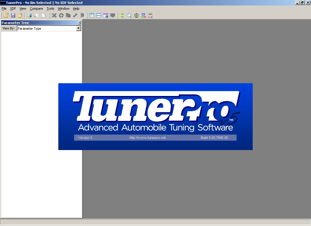 Initial Screen for TunerPro